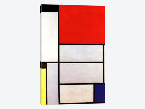 "Tableau l 1921 by Piet Mondrian Canvas Print 40"" L x 60"" H x 0.75"" D"