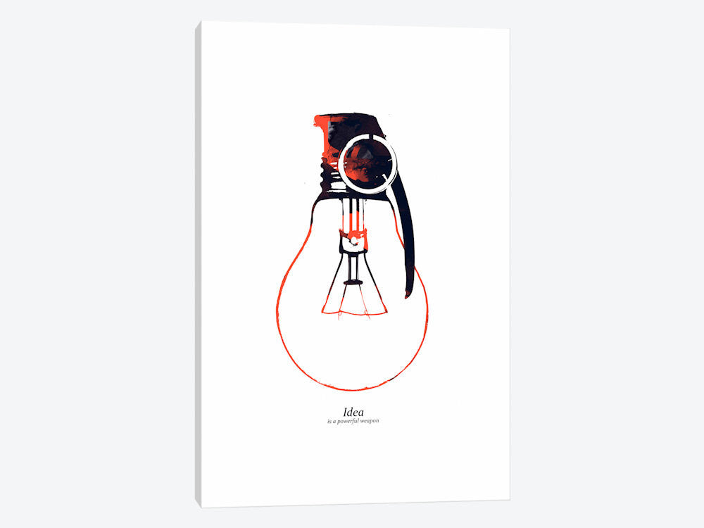 "Idea Is A Powerful Weapon by Budi Satria Kwan Canvas Print 26"" L x 40"" H x 0.75"" D - eWallArt"