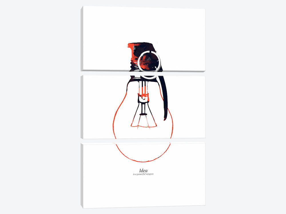 "Idea Is A Powerful Weapon by Budi Satria Kwan Canvas Print 40"" L x 60"" H x 0.75"" D - eWallArt"