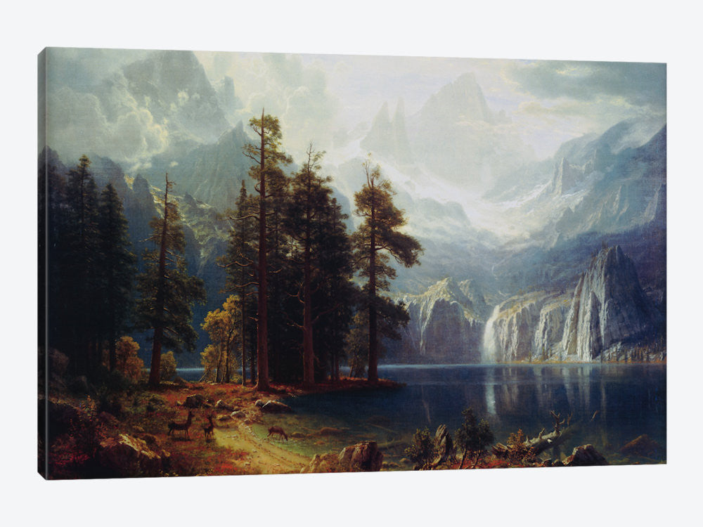 1492-1PC3-26x18 Sierra Nevada In California by Albert Bierstadt Canvas Print
