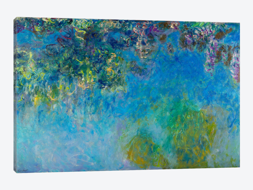 "Wisteria by Claude Monet Canvas Print 60"" L x 40"" H x 1.5"" D - eWallArt"