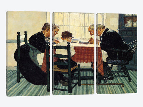 "Choosing up Four Sporting Boys: Baseball by Norman Rockwell Canvas Print 26"" L x 26"" H x 0.75"" D"