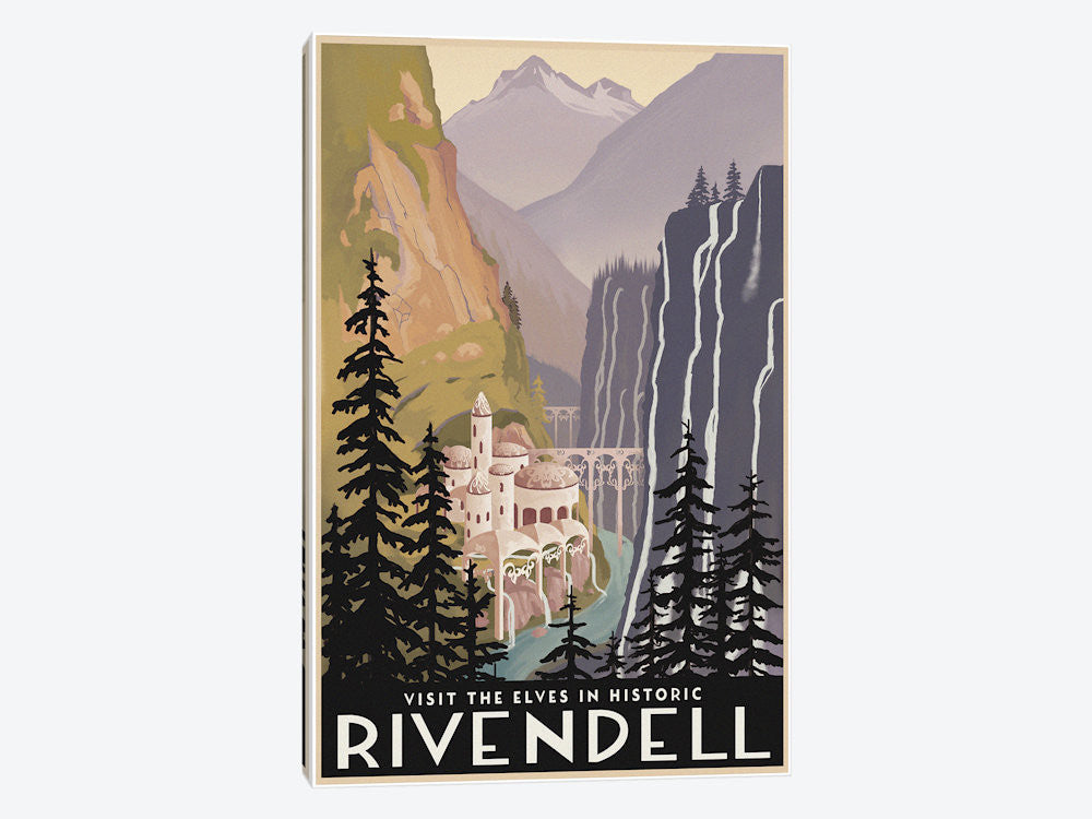 "Visit Historic Rivendell by Steve Thomas Canvas Print 18"" L x 26"" H x 0.75"" D - eWallArt"