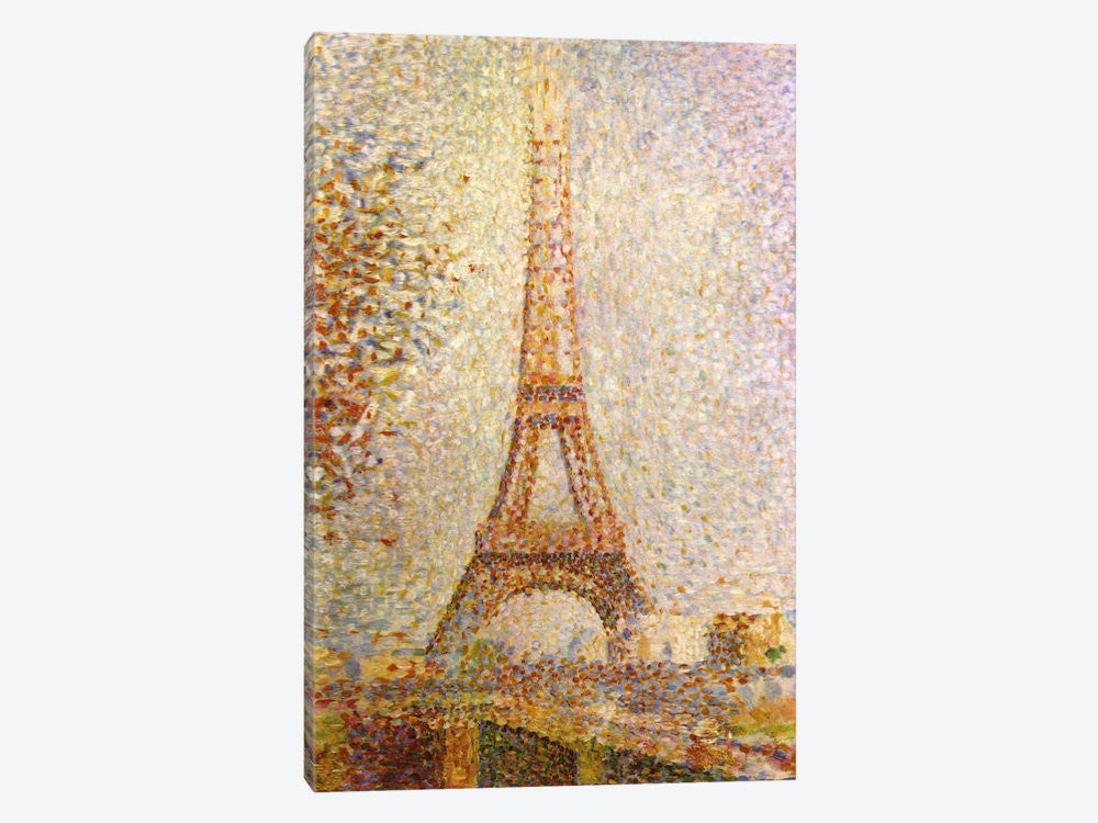 "Eiffel Tower by Georges Seurat Canvas Print 26"" L x 40"" H x 0.75"" D - eWallArt"