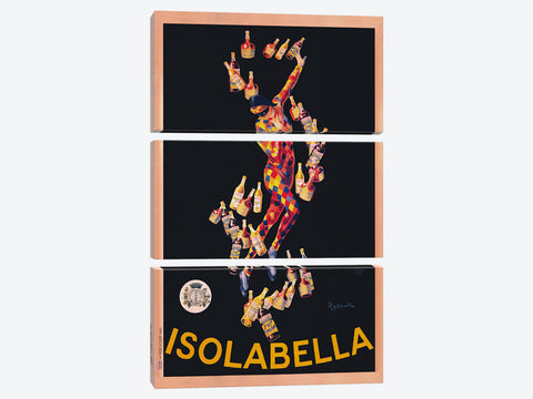 "Isolabella Vintage by Leonetto Cappiello Canvas Print 18"" L x 26"" H x 0.75"" D"