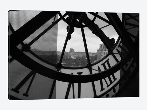 "Clock Tower In Paris Canvas Print 26"" L x 18"" H x 0.75"" D"