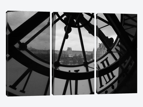 "Clock Tower In Paris Canvas Print 60"" L x 40"" H x 1.5"" D"
