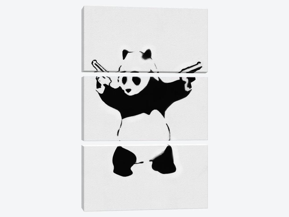 "Panda With Guns by Banksy Canvas Print 40"" L x 60"" H x 0.75"" D - eWallArt"