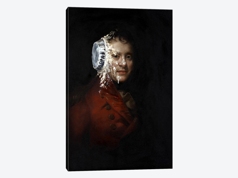 "Pie Face by Banksy Canvas Print 26"" L x 40"" H x 0.75"" D - eWallArt"
