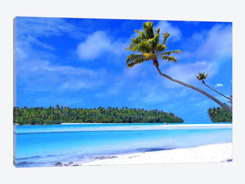 "The Island Canvas Print 26"" L x 18"" H x 0.75"" D - eWallArt"