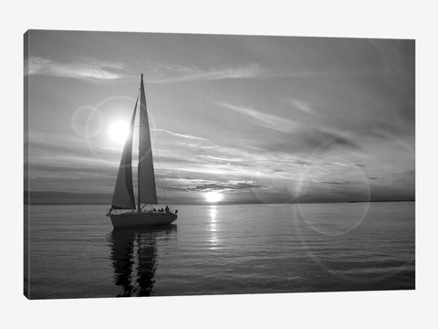 "Sailing at Sunset Alaska '09 by Monte Nagler Canvas Print 60"" L x 40"" H x 1.5"" D"