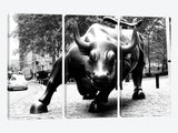 Wall Street Bull Black & White Canvas Print 60