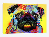 4207-1PC3-40x26 Pug by Dean Russo Canvas Print