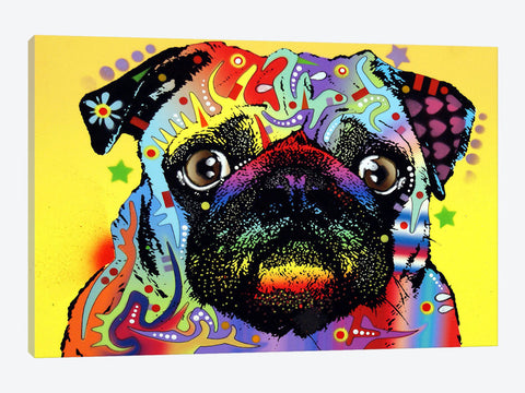 "Pug and Pug Brewing  by Ryan Fowler Canvas Print 18"" L x 26"" H x 0.75"" D"