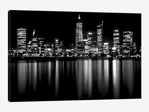 "Downtown City Canvas Print 60"" L x 40"" H x 0.75"" D"