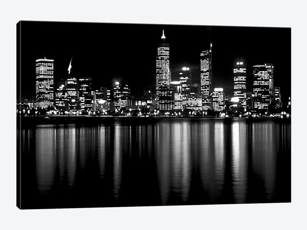 "Downtown City Canvas Print 60"" L x 40"" H x 1.5"" D - eWallArt"