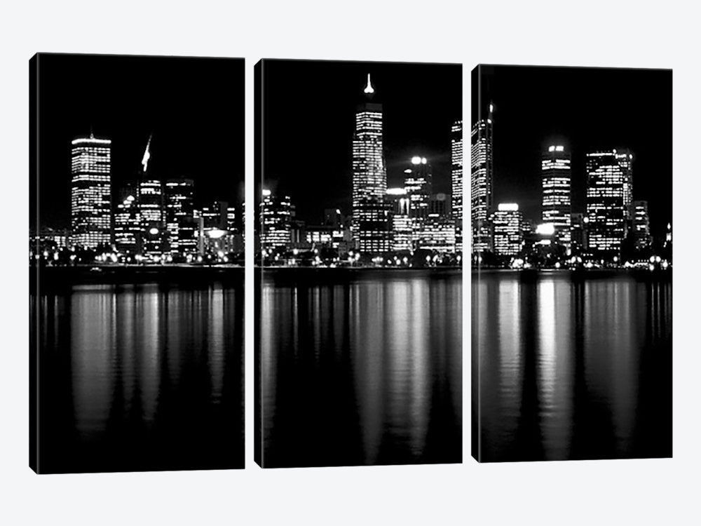 "Downtown City Canvas Print 60"" L x 40"" H x 0.75"" D - eWallArt"