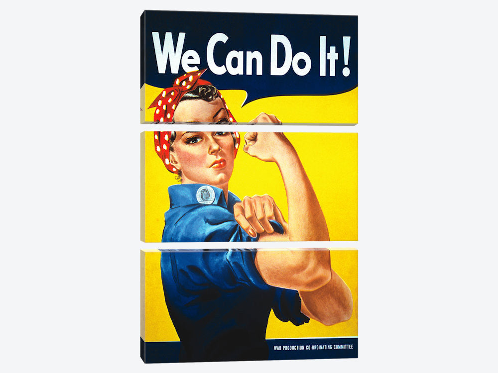 We Can Do It! Rosie The Riveter Poster by J Howard Miller Canvas Print