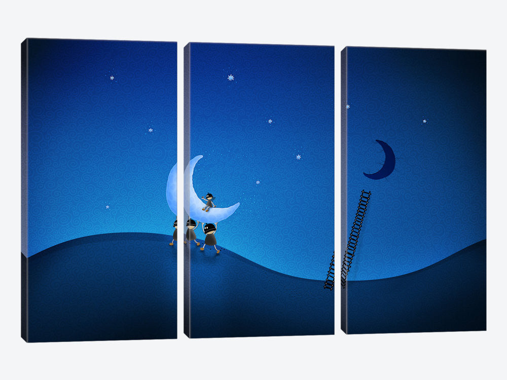 "Stealing The Moon Canvas Print 60"" L x 40"" H x 0.75"" D - eWallArt"