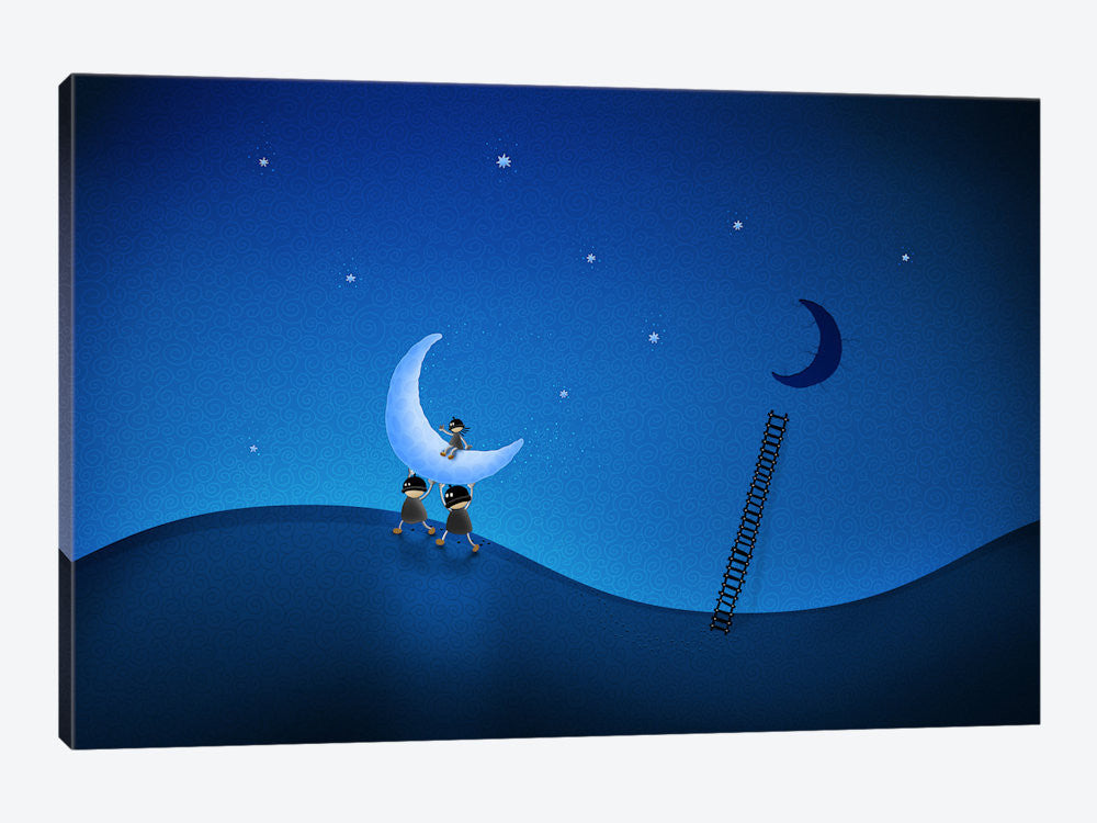 "Stealing The Moon Canvas Print 40"" L x 26"" H x 0.75"" D - eWallArt"