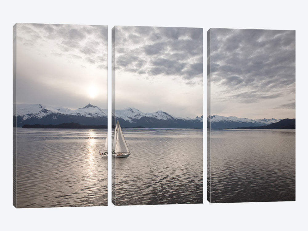 "Sailing at Sunset Alaska '09 by Monte Nagler Canvas Print 60"" L x 40"" H x 0.75"" D - eWallArt"