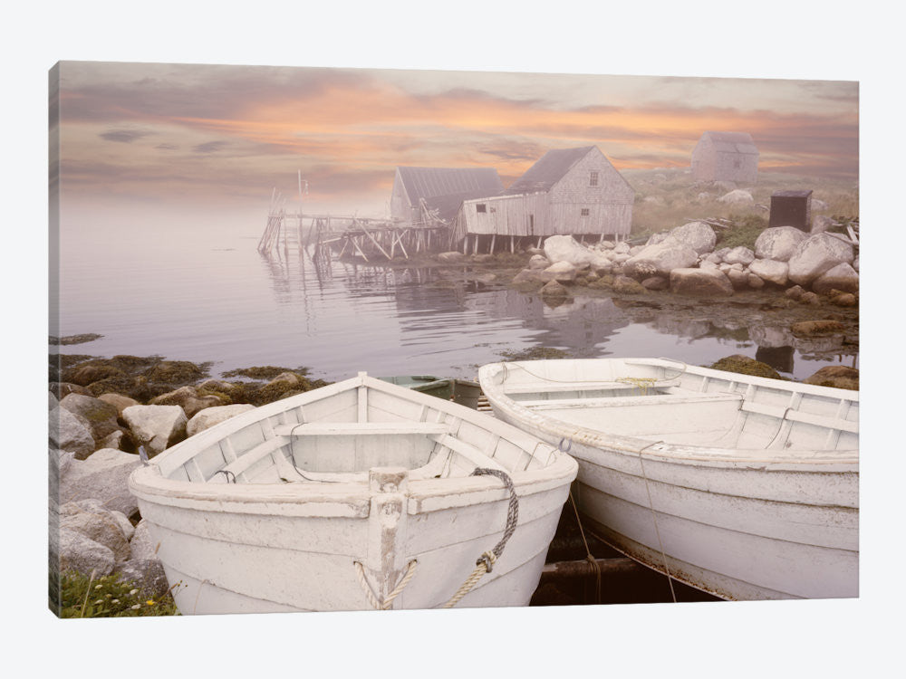 "Two Boats at Sunrise Nova Scotia '11 by Monte Nagler Canvas Print 40"" L x 26"" H x 0.75"" D - eWallArt"