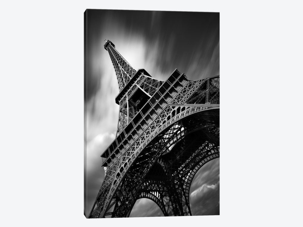 "Eiffel Tower Study II by Moises Levy Canvas Print 26"" L x 40"" H x 0.75"" D - eWallArt"