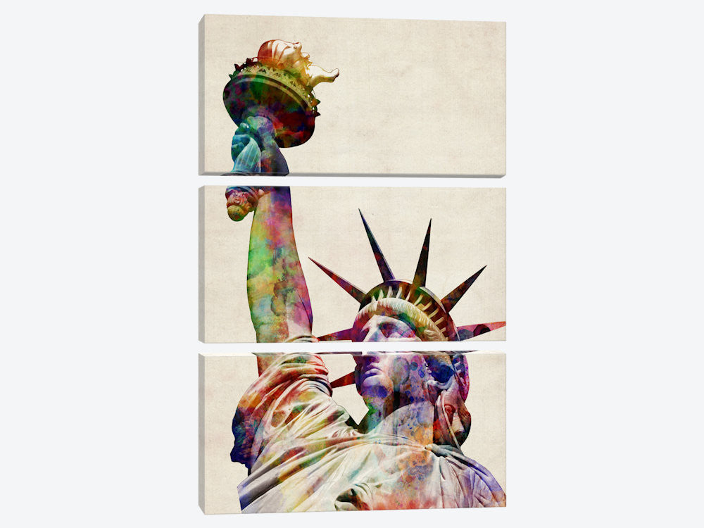"Statue of Liberty by Michael Tompsett Canvas Print 40"" L x 60"" H x 0.75"" D - eWallArt"
