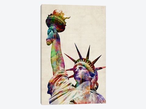 "Statue of Liberty by Michael Tompsett Canvas Print 26"" L x 40"" H x 0.75"" D"