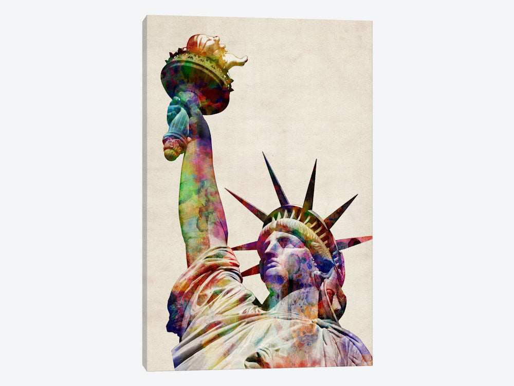 "Statue of Liberty by Michael Tompsett Canvas Print 26"" L x 40"" H x 0.75"" D - eWallArt"
