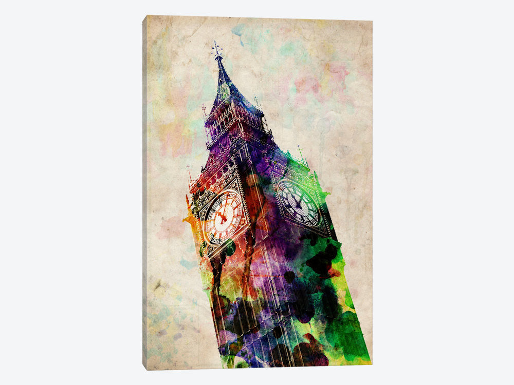 "London Big Ben by Michael Tompsett Canvas Print 18"" L x 26"" H x 0.75"" D - eWallArt"