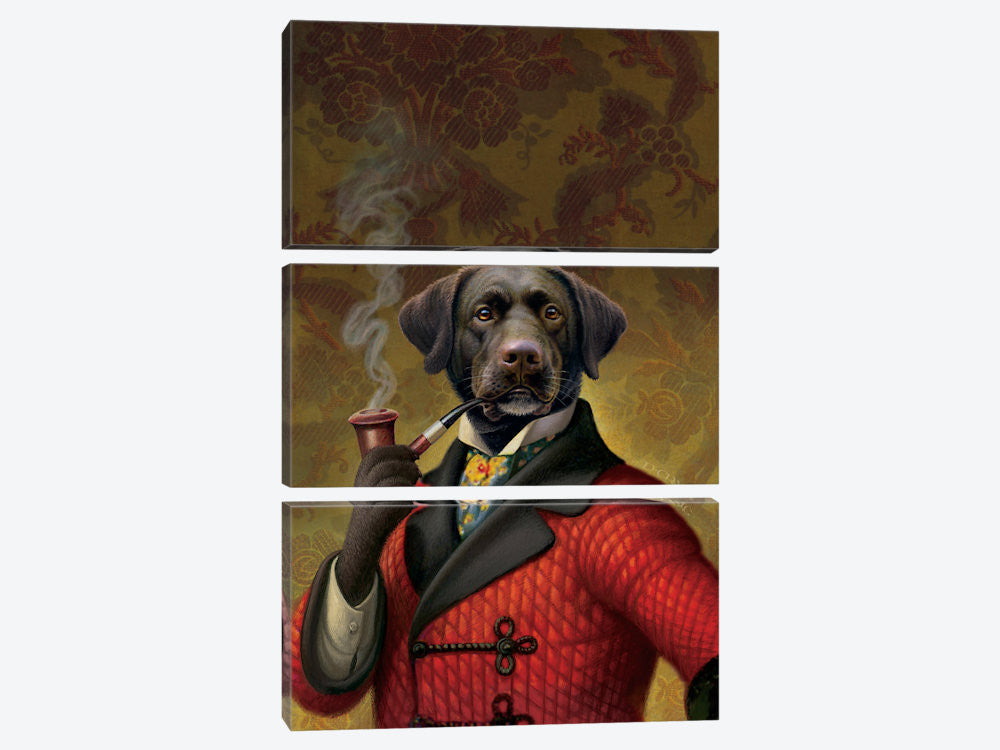 "The Red Beret Dog by Dan Craig Canvas Print 40"" L x 60"" H x 0.75"" D - eWallArt"