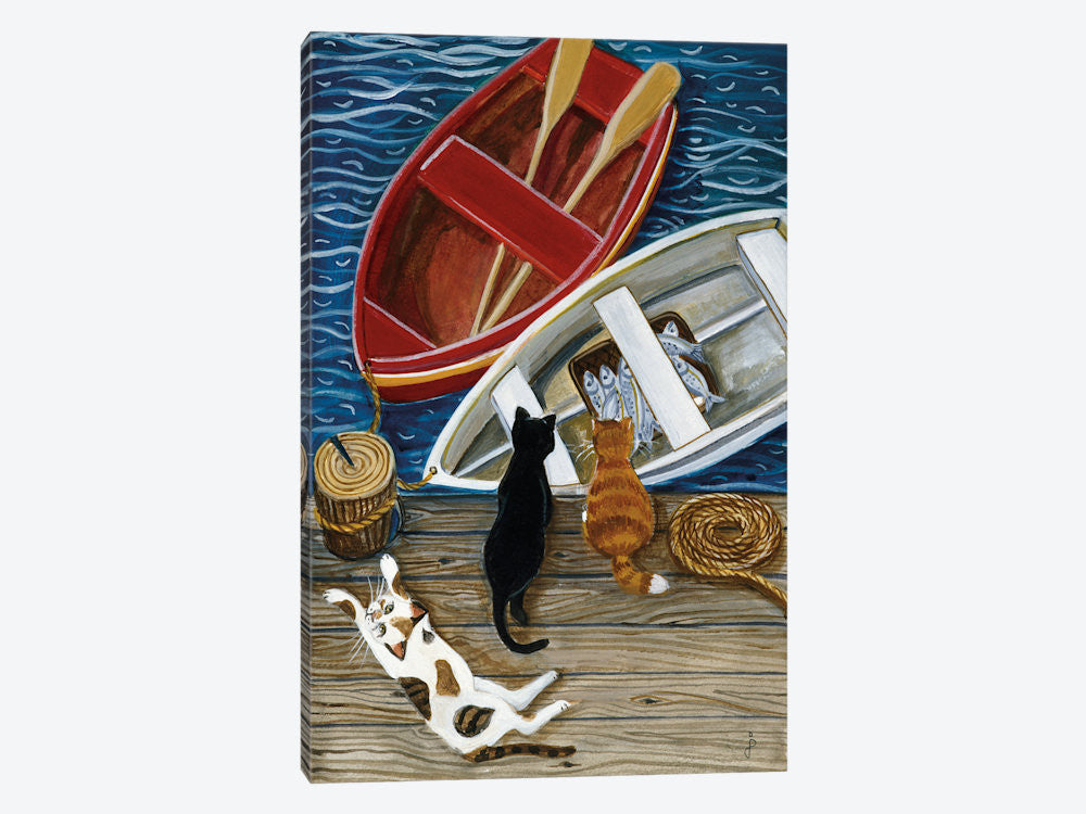 "The Days Catch by Jan Panico Canvas Print 18"" L x 26"" H x 0.75"" D - eWallArt"