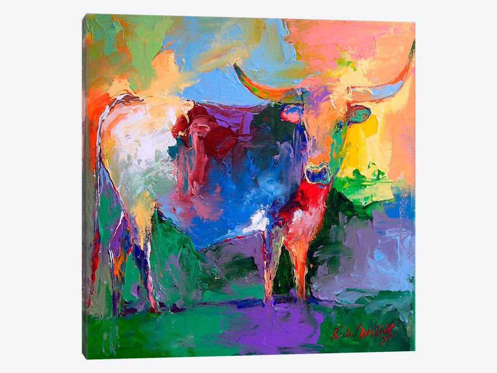 "Bull by Richard Wallich Canvas Print 37"" L x 37"" H x 0.75"" D - eWallArt"