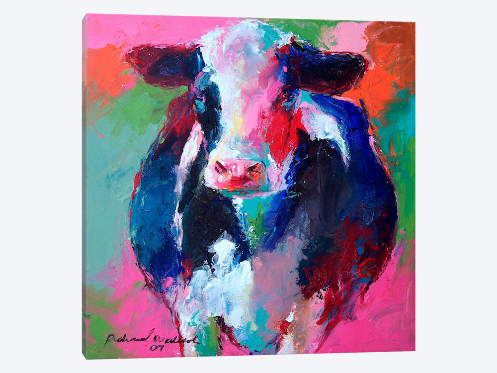 "Cow II by Richard Wallich Canvas Print 37"" L x 37"" H x 0.75"" D - eWallArt"