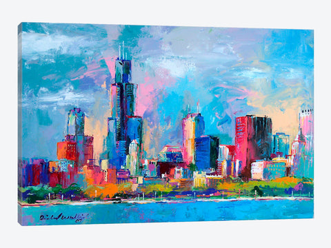 "Downtown City Canvas Print 26"" L x 18"" H x 0.75"" D"