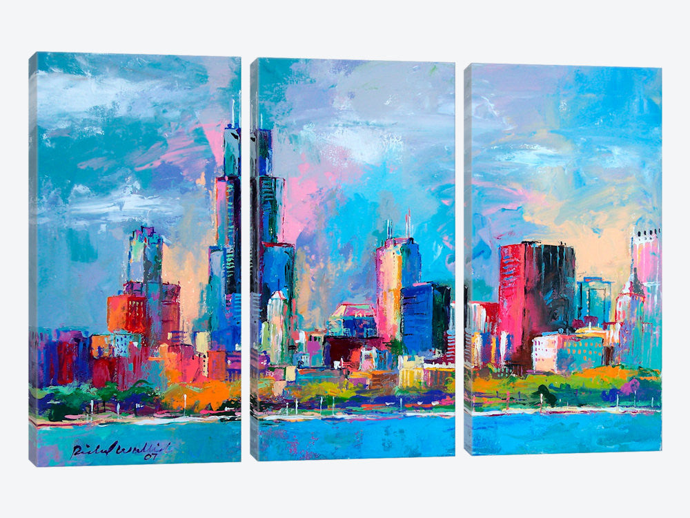 "Chicago 5 by Richard Wallich Canvas Print 60"" L x 40"" H x 0.75"" D - eWallArt"