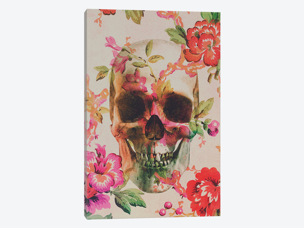 "Skull by Andreas Lie Canvas Print 26"" L x 40"" H x 0.75"" D - eWallArt"