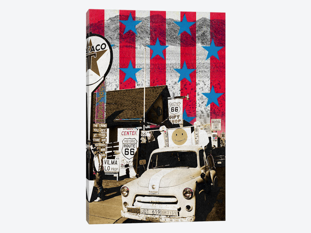 "Route66 Onward by 5by5collective Canvas Print 18"" L x 26"" H x 0.75"" D - eWallArt"