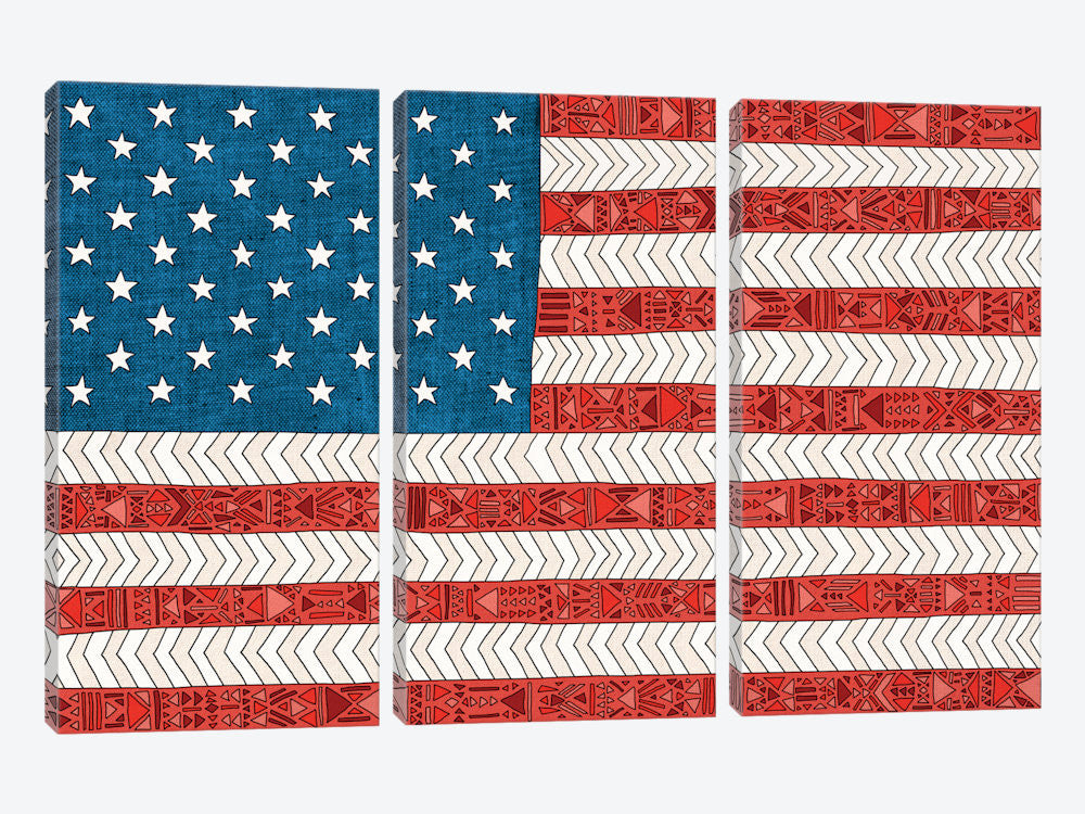"USA by Bianca Green Canvas Print 60"" L x 40"" H x 0.75"" D - eWallArt"