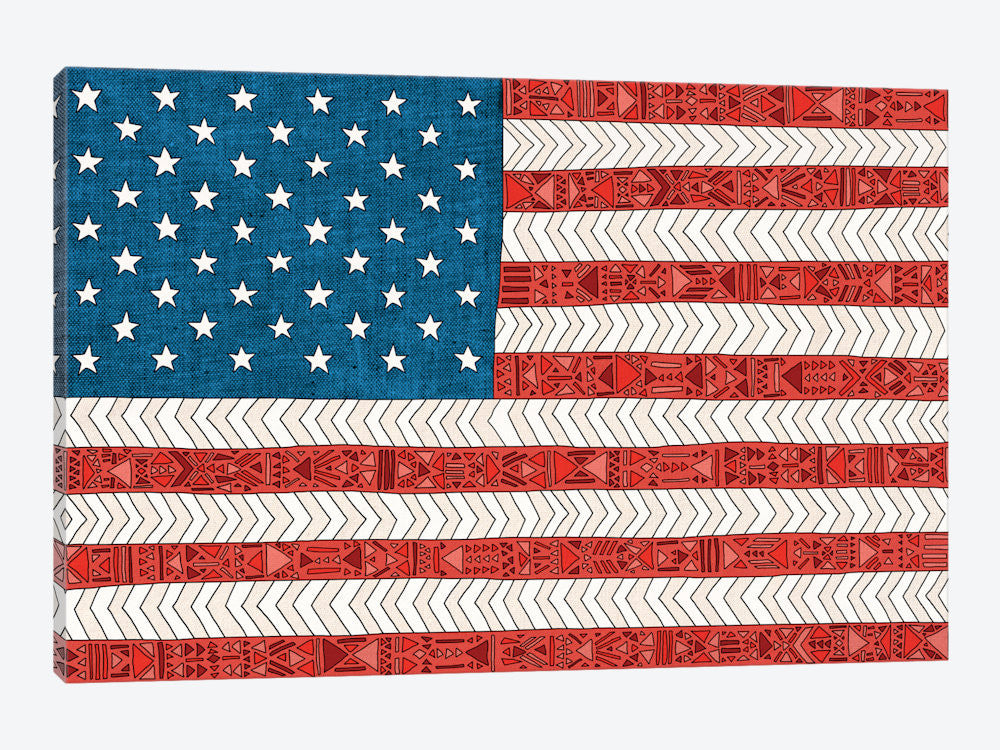 "USA by Bianca Green Canvas Print 60"" L x 40"" H x 1.5"" D - eWallArt"