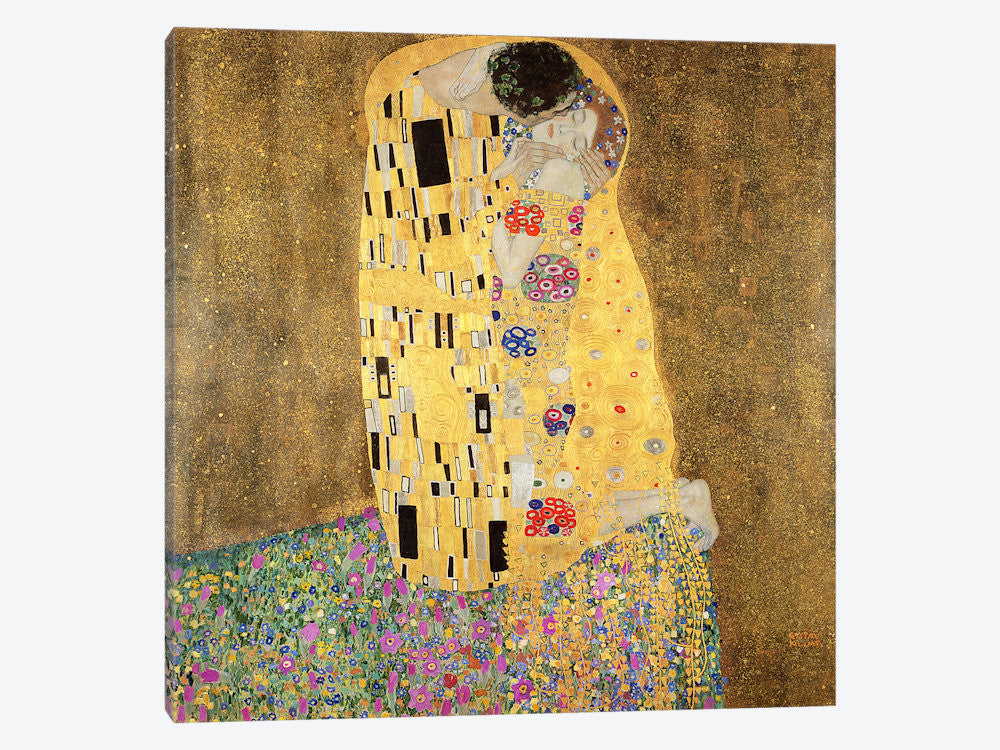 "The Kiss by Bridgeman Library Canvas Print 26"" L x 26"" H x 0.75"" D - eWallArt"