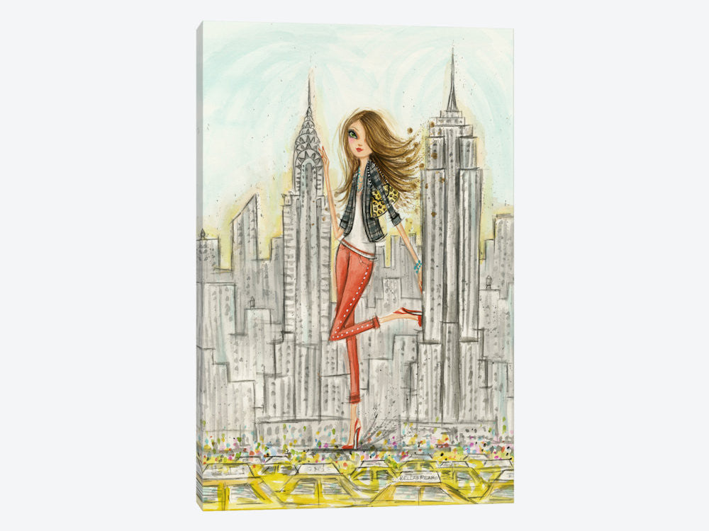 "See The Sights: New York by Bella Pilar Canvas Print 18"" L x 26"" H x 0.75"" D - eWallArt"