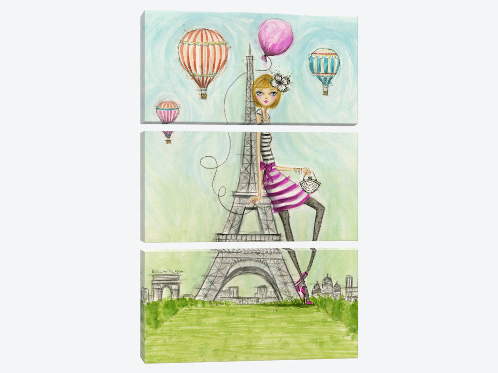 "See The Sights: Paris by Bella Pilar Canvas Print 40"" L x 60"" H x 0.75"" D - eWallArt"