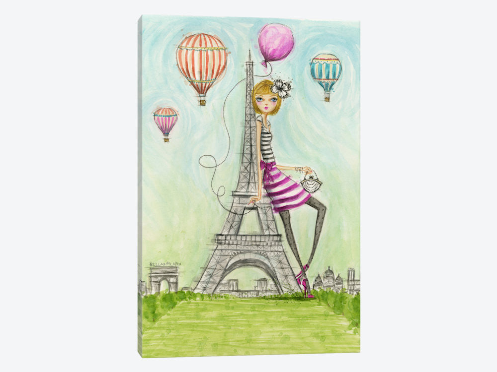 "See The Sights: Paris by Bella Pilar Canvas Print 40"" L x 60"" H x 1.5"" D - eWallArt"
