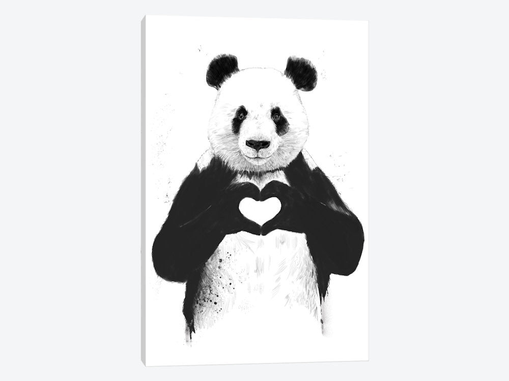 "All You Need Is Love by Balazs Solti Canvas Print 18"" L x 26"" H x 0.75"" D - eWallArt"