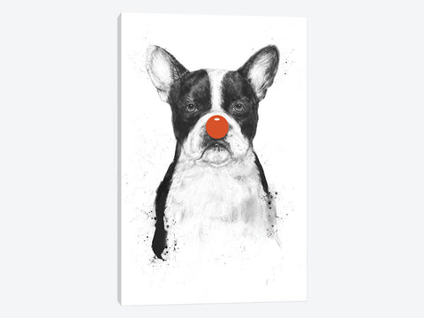 "The Red Beret Dog by Dan Craig Canvas Print 40"" L x 60"" H x 0.75"" D"