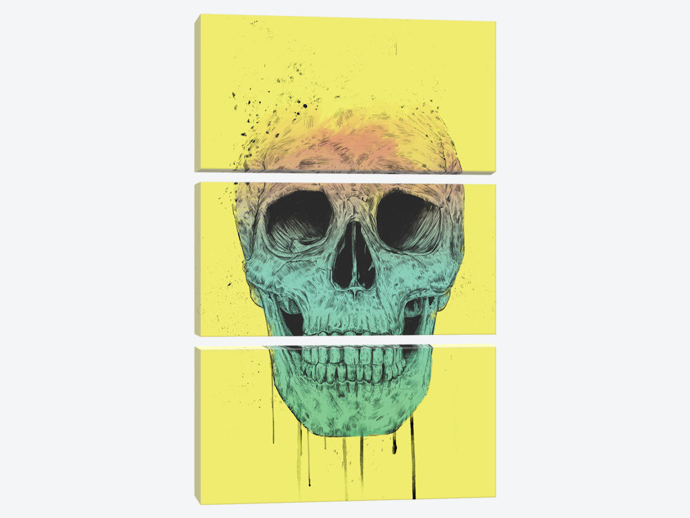 "Pop Art Skull by Balazs Solti Canvas Print 40"" L x 60"" H x 0.75"" D - eWallArt"