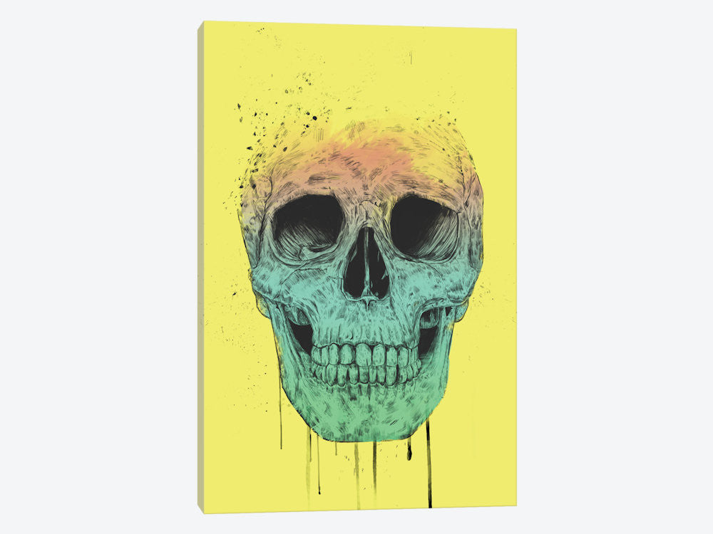 "Pop Art Skull by Balazs Solti Canvas Print 40"" L x 60"" H x 1.5"" D - eWallArt"