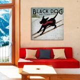 Black Dog Ski Co II by Ryan Fowler Canvas Print